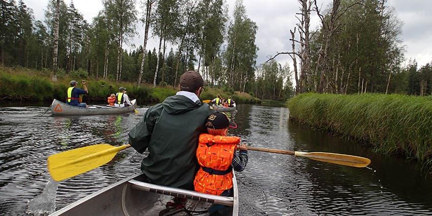 Kanotur med børn